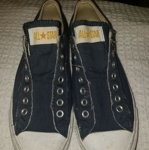 Navy Blue distressed Converse